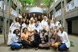 A group of women physicians in Ethiopia.