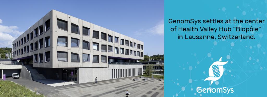 GenomSys relocates its headquarters to BioPôle in Lausanne, Switzerland